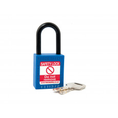 NC38 Nylon Shackle Safety padlock-BLUE
