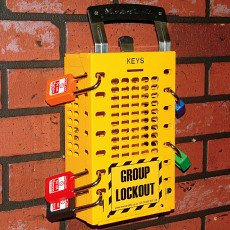 503 lockout box YELLOW