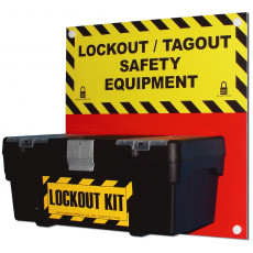 Lockout / Tagout Safety Equipment Box Holder