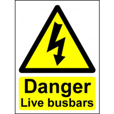 Electrical Hazard Warning Signs - Live Busbars