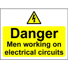 Electrical Hazard Warning Signs - Men Working