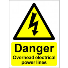 Electrical Hazard Warning Sign - Overhead Power