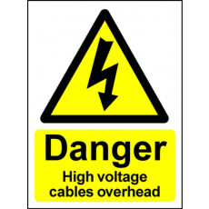 Electrical Hazard Warning Sign - High Voltage Overhead