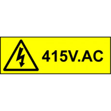 Electrical Safety Labels - 415V AC