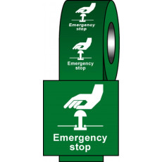 Safety Labels - Green Emergency Stop
