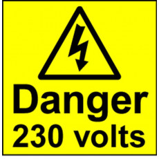 Electrical Safety Labels - 230 Volts