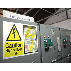 Giant Wall Sign - Caution High Voltage