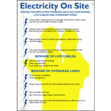 Electrical Safety Poster - 'Electricity on Site'