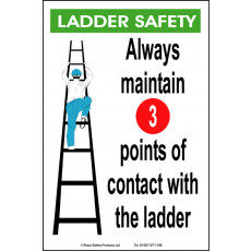 General Awareness Safety Posters - 'Ladder Safety'