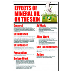 General Awareness Safety Posters - 'Effects of Mineral Oil on the Skin'