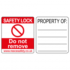 PBL1 and PBL2 Safety Lock Label