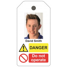 Personalised Photo ID Lockout tag