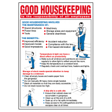 General Awareness Safety Posters - 'Good House Keeping'