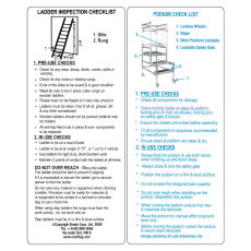 SCAF33 Ladder Inspection Pocket Guide - Pack of 5