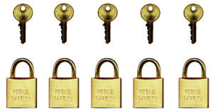 Keyed to differ padlock